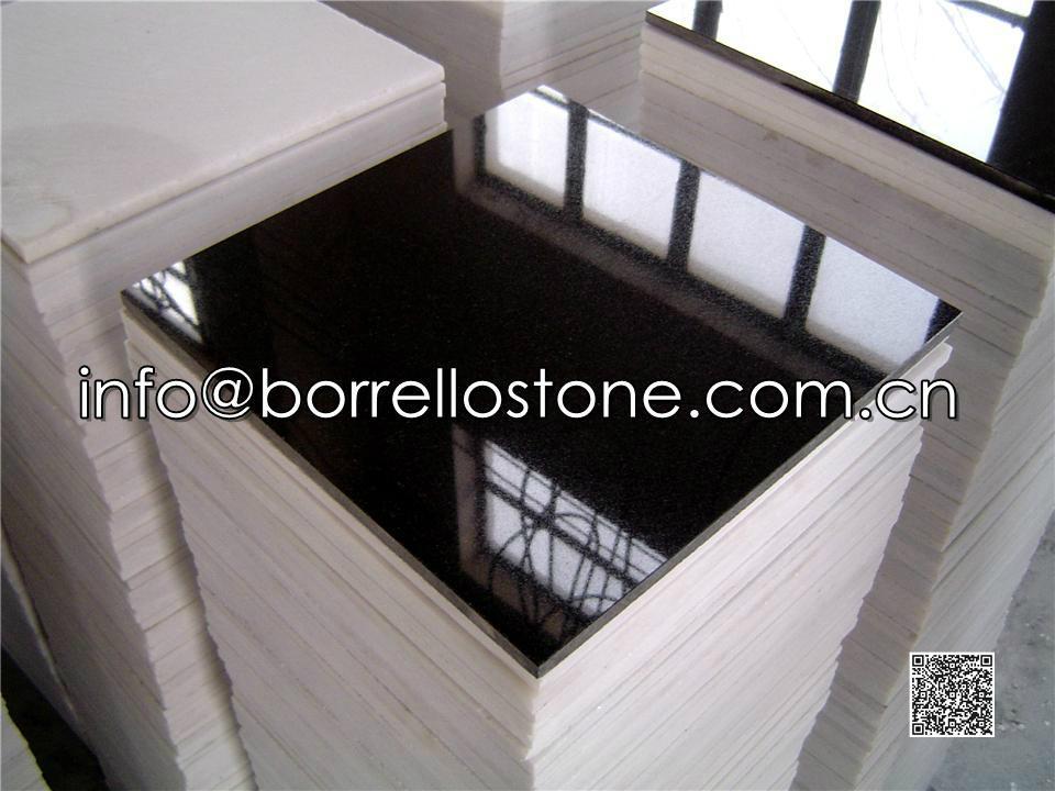 polished black granite tile 1