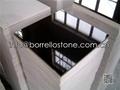 polished black granite tile