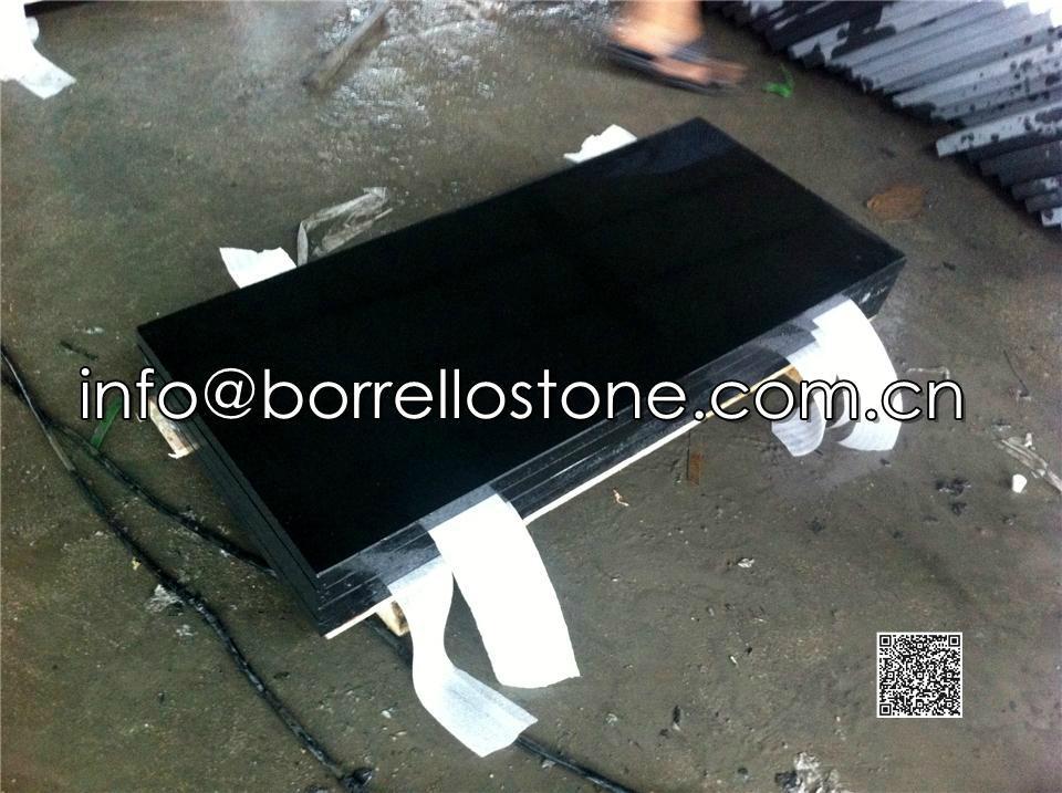 polished black granite tile 3