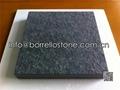 bush hammered black granite paver