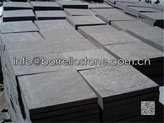 flamed black granite paver