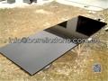 split face black granite wall stone