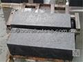black granite steps