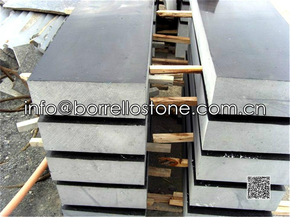 black granite block steps 3