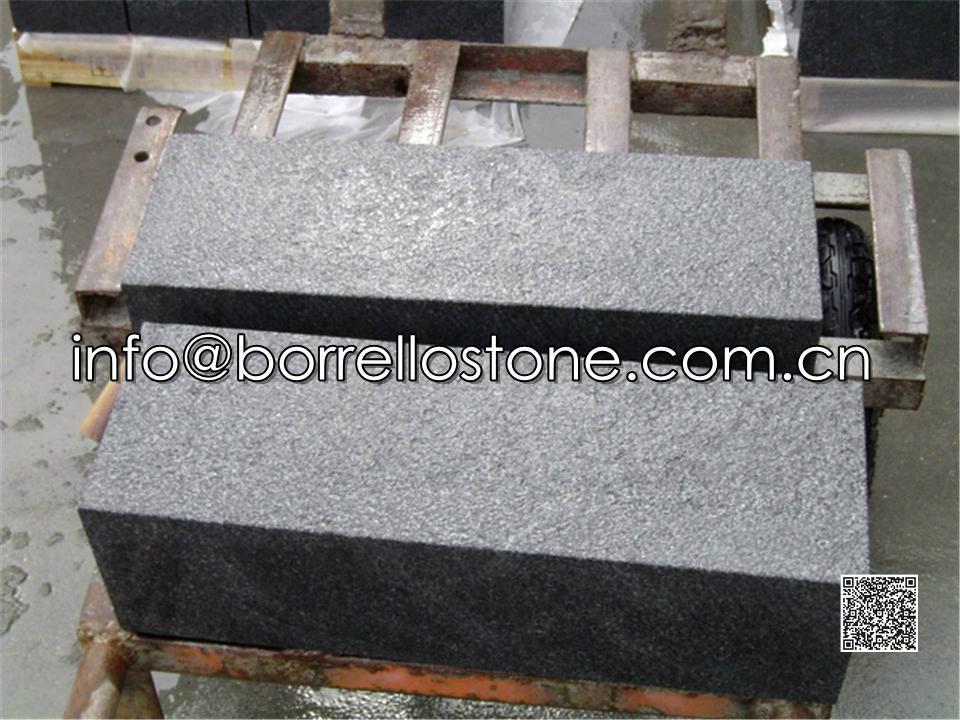 black granite block steps 4