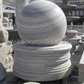 marble stone sphere fountain