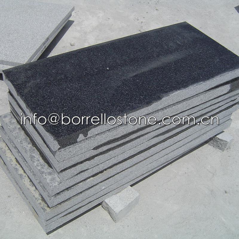 flamed sesame black granite tile 1