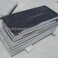 flamed sesame black granite tile
