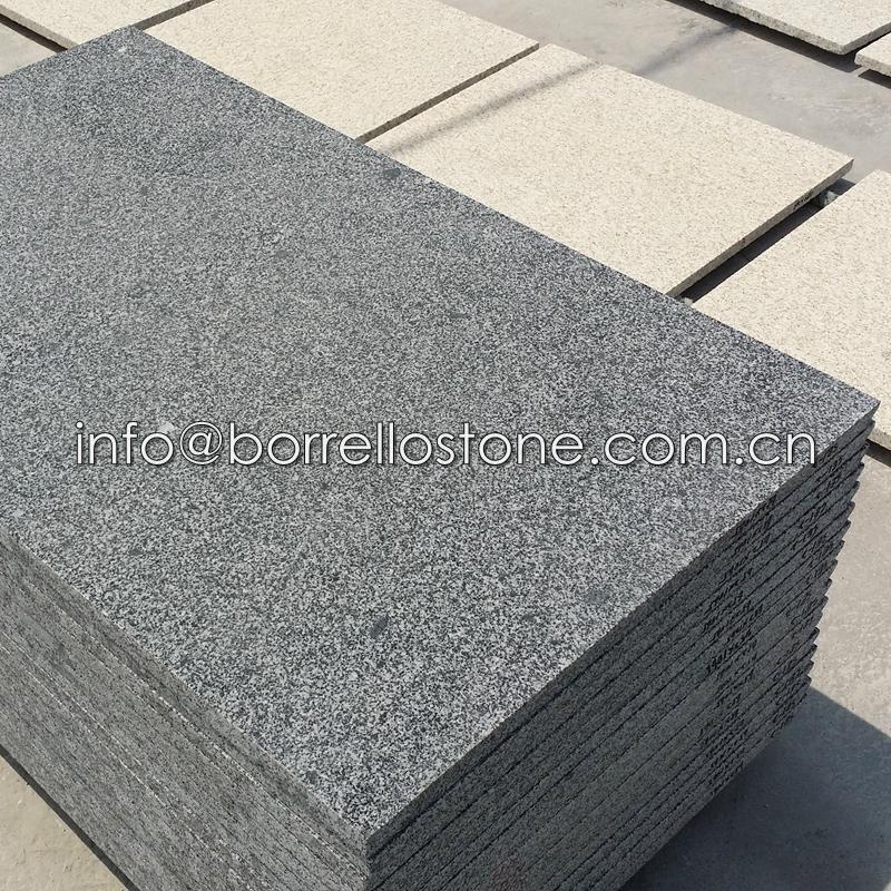 flamed sesame black granite tile 2