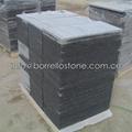 flamed sesame black granite tile 3