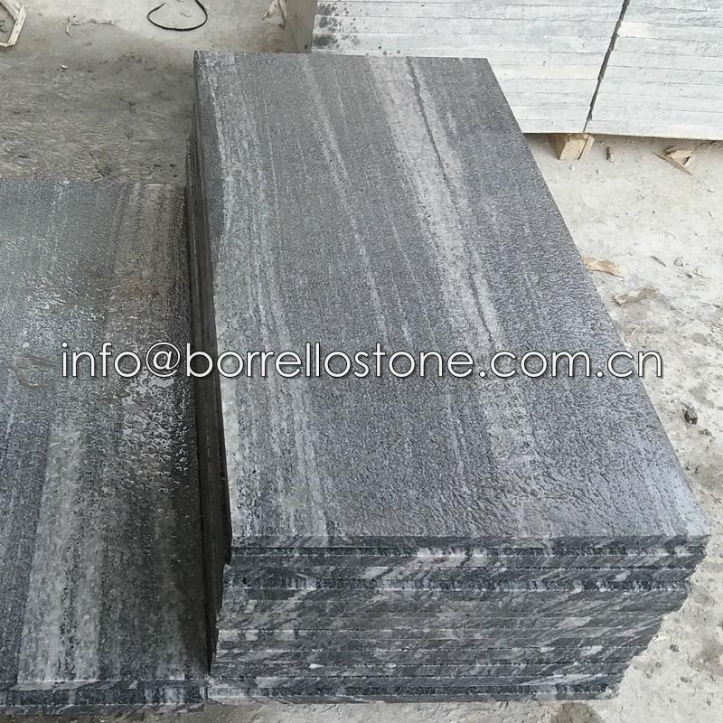 flamed and brushed granite tile 3