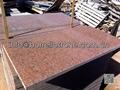 polished red granite tile