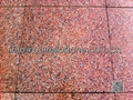 flamed red granite stone