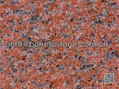 polished China red grani