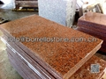 polished China red granite