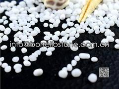 White opaque glass bead