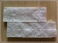 white marble stacked stone
