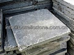 tumbled blue limestone paver