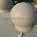 color granite stone ball