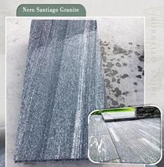 Flamed Snow grey granite