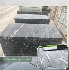 Nero Branco grey granite tile