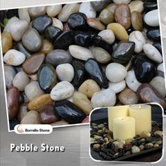 mixed color polished pebble stone