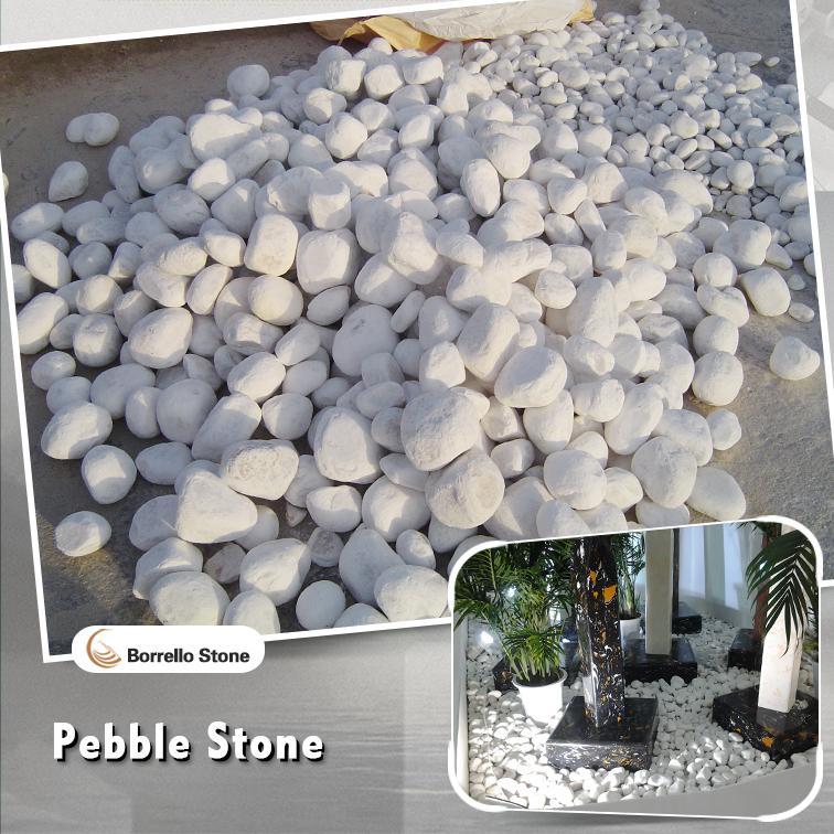 50-100mm white pebble rocks boulder