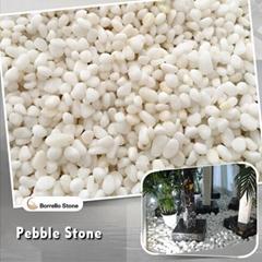 pearl white pebble stone