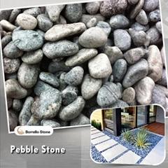 green pebble stone