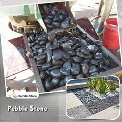 dark grey flat pebble stone