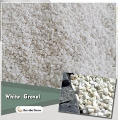 white stone pea gravel 3-5mm