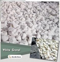 decorative white stone chips