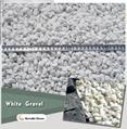 white gravel for garden decoration