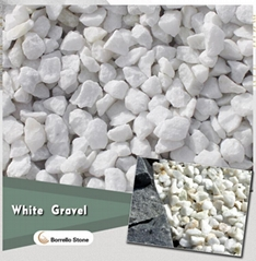 white stone marble chips 8-12mm