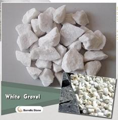 white gravel stone 20-30mm