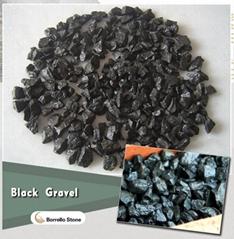 black basalt stone chips