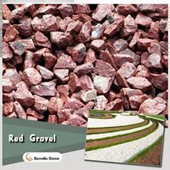 red stone gravel