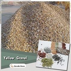 yellow stone gravel