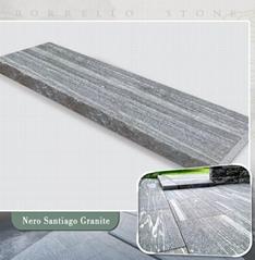 G302 grey granite step