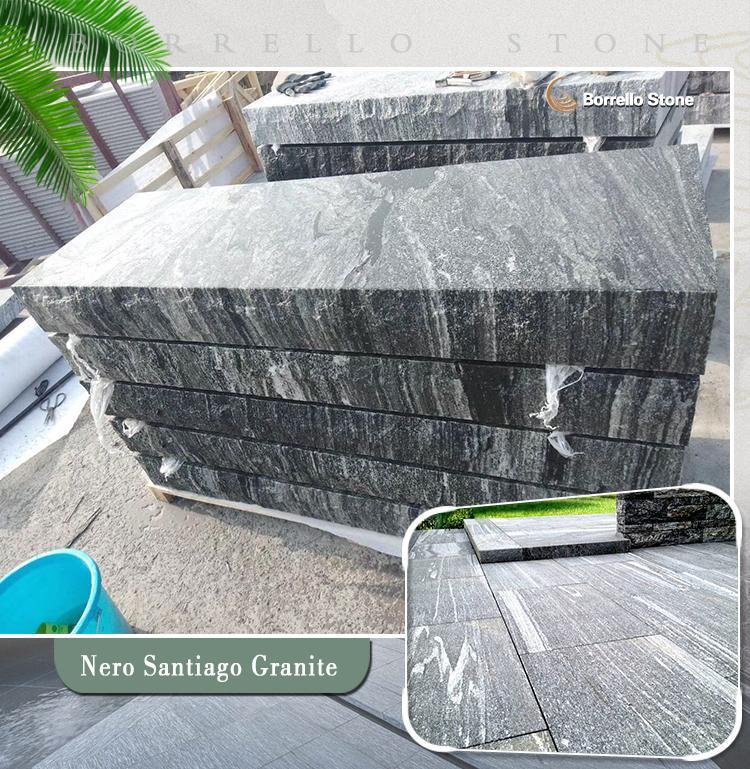 G302 grey granite block steps 1