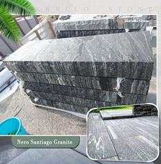 G302 grey granite block steps