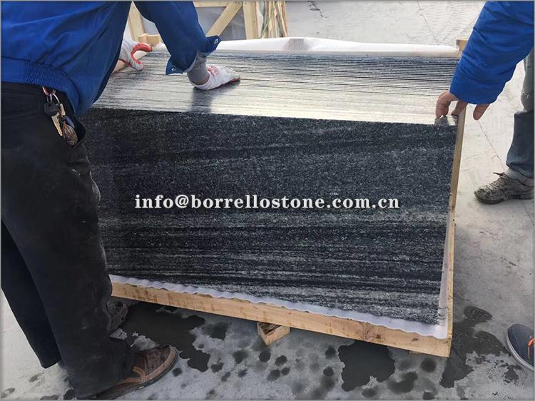 G302 grey granite block steps 6