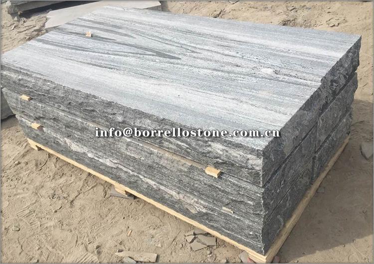 G302 grey granite block steps 2