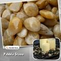 high polished yellow pebble stone