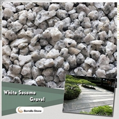 white sesame granite gravel