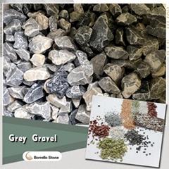 grey stone aggregate gravel