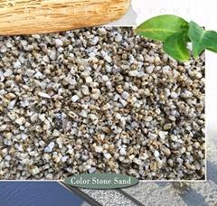 crushed stone yellow granite sand