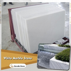 polished white marble tile