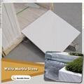 sandblasted white marble tile