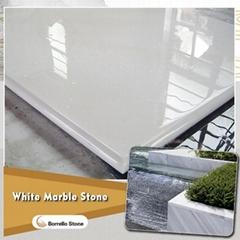 white marble worktop